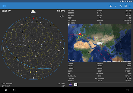 Captura de pantalla de ISS Detector Pro