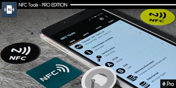 Herramientas NFC - Captura de pantalla de la edición Pro
