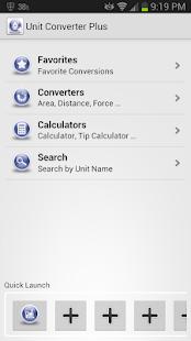 Captura de pantalla de Unit Converter Plus
