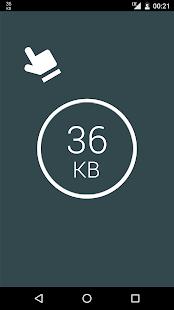 Monitor de datos: captura de pantalla del medidor de red simple