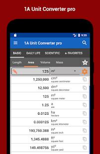 1A Unit Converter pro Captura de pantalla