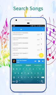 Captura de pantalla del reproductor de música