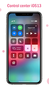 Captura de pantalla del Launcher OS 13 y Control Center