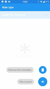 Captura de pantalla del administrador de notificaciones