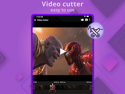 Video Cutter - Music Cutter, Captura de pantalla del creador de tonos de llamada