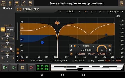 Captura de pantalla de Audio Evolution Mobile Studio