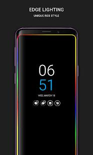 Siempre en AMOLED |  Edge Lighting 🌟 Captura de pantalla