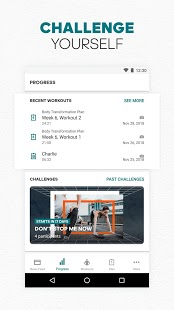 adidas Training by Runtastic - Captura de pantalla de la aplicación Workout Fitness