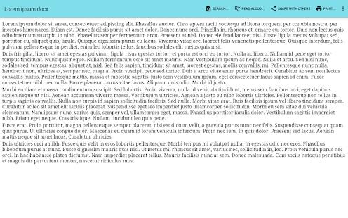 Captura de pantalla del Visor de documentos de Office (Pro)