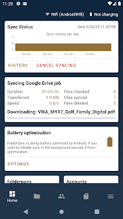 Captura de pantalla de FolderSync Pro