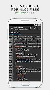 QuickEdit Text Editor Pro - Captura de pantalla del editor y editor de código