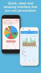 Bluecoins Finance: captura de pantalla del administrador de presupuestos, dinero y gastos