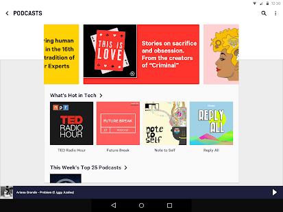 TuneIn Pro: Captura de pantalla de deportes en vivo, noticias, música y podcasts
