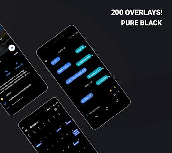 Swift Black Substratum Theme + Captura de pantalla del tema de Oreo y Samsung