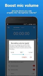 AudioRec Pro - Captura de pantalla de la grabadora de voz