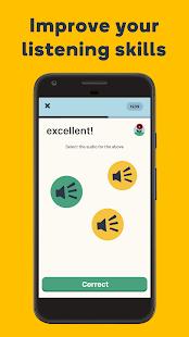 Aprende idiomas con Memrise: captura de pantalla en español y francés