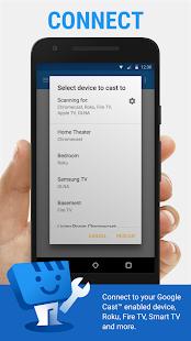 Transmisión de vídeo web    Navegador a TV / Chromecast / Roku / + Captura de pantalla