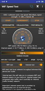 Captura de pantalla de WiFi Speed Test Pro