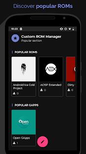 [ROOT]  Captura de pantalla de Custom ROM Manager (Pro)