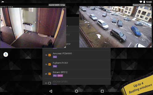 tinyCam PRO - Navaja suiza para monitorear la captura de pantalla de la cámara IP