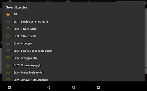 Captura de pantalla de Voice Training Pro