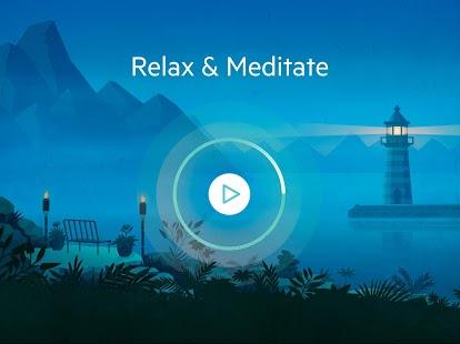 Meditación relajante: captura de pantalla de meditaciones guiadas de atención plena