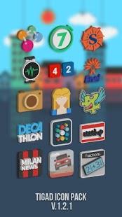Captura de pantalla del paquete de iconos Tigad Pro