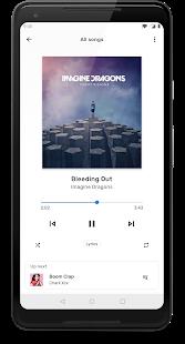 Captura de pantalla del reproductor de música TimberX