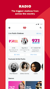 iHeartRadio: captura de pantalla de radio, podcasts y música a pedido
