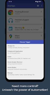 Superposiciones: captura de pantalla del lanzador de aplicaciones flotantes