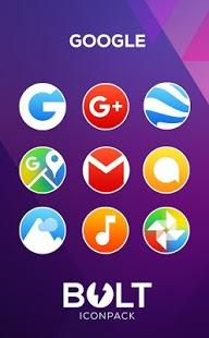Captura de pantalla del paquete de iconos BOLT