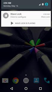Ola para desbloquear y bloquear captura de pantalla