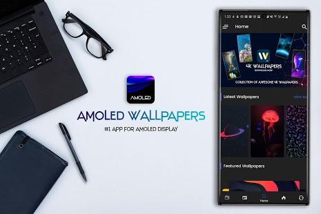 AMOLED Wallpapers 4K - Captura de pantalla del cambiador automático de fondos de pantalla