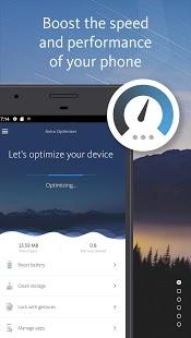 Avira Optimizer - Captura de pantalla del limpiador y ahorro de batería