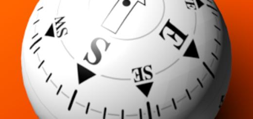 3D Stabilized Ball Compass