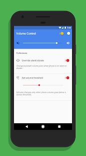 Control de volumen para la captura de pantalla del asistente