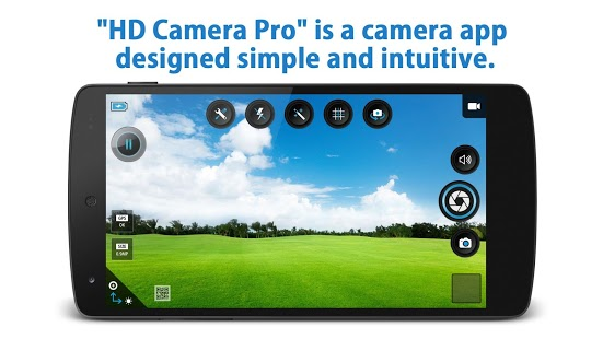 HD Camera Pro: captura de pantalla del obturador silencioso