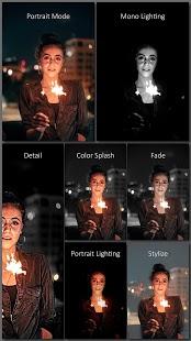 Phocus: modo de retrato y captura de pantalla del editor de iluminación de retrato