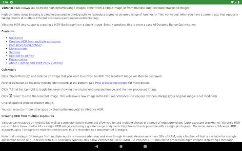 Captura de pantalla de Vibrance HDR