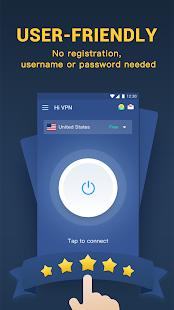 Hi VPN Pro: captura de pantalla de VPN de punto de acceso y proxy ilimitado gratuito