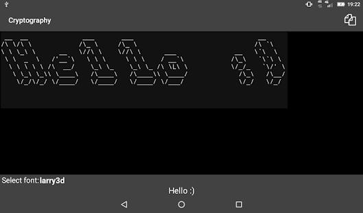 Criptografía: colección de cifrados y hashes Captura de pantalla
