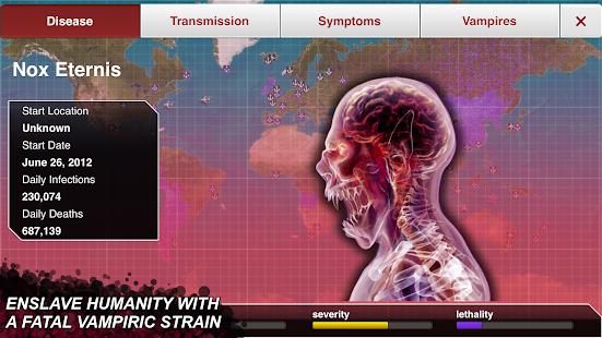 Captura de pantalla de Plague Inc.