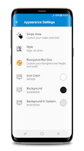 Captura de pantalla de la barra de navegación del S8 (sin raíz)