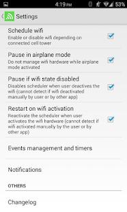 Captura de pantalla del Programador Wifi