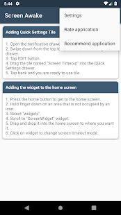 Mantener la pantalla activa Captura de pantalla