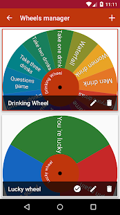 Amazing Wheels - Captura de pantalla del selector de opciones aleatorias