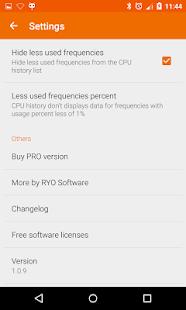 Captura de pantalla del lector de estadísticas de la CPU