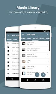 Captura de pantalla del reproductor de música NRG Player