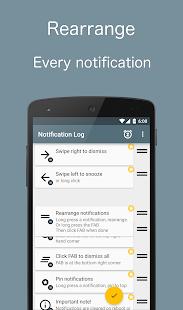 Captura de pantalla de Notif Log Pro