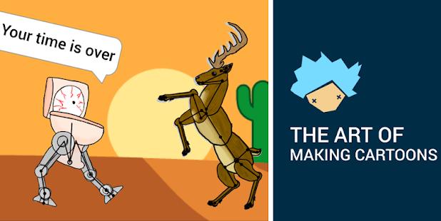 Draw Cartoons 2 - Captura de pantalla del creador de videos animados